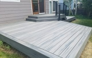 wood patio area