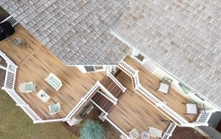 aerial view of multi-level deck