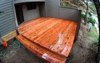 wood deck/patio