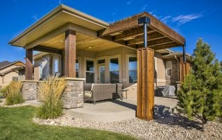 covered patio with outdoor furniture